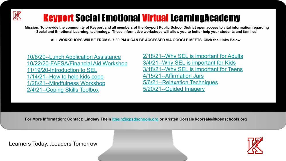 Keyport Social Emotional Learning Virtual Academy