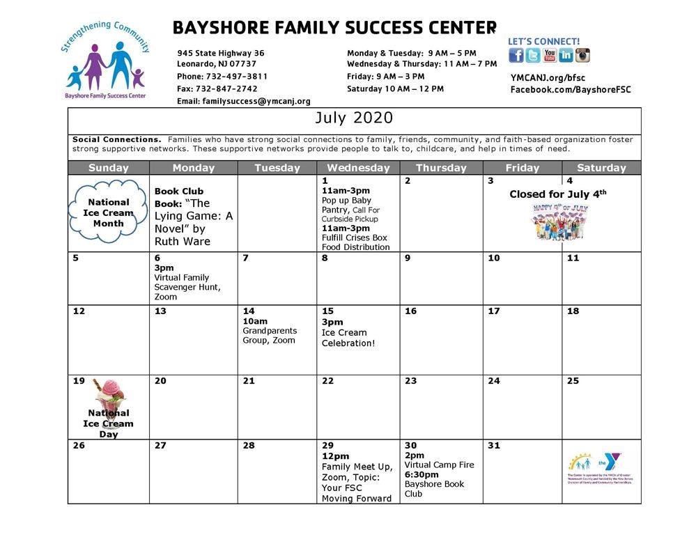 Bayshore Family Success Center November Events Calendar