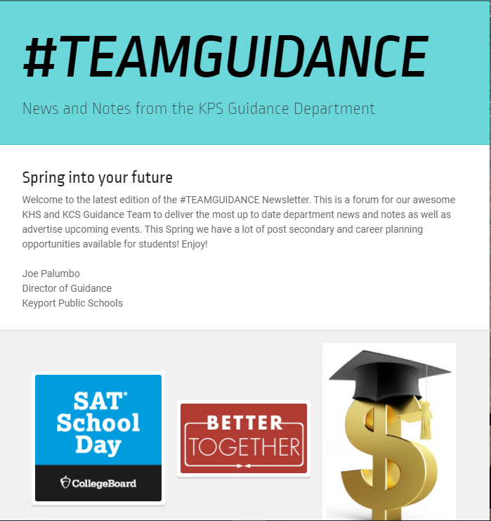 #TEAMGUIDANCE Spring Newsletter