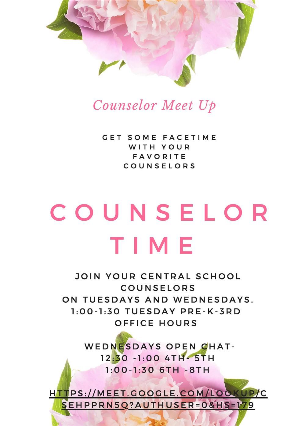 Central School Counselor Office Hours